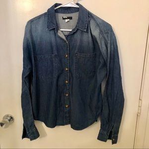 BDG ombré chambray denim button up shirt small